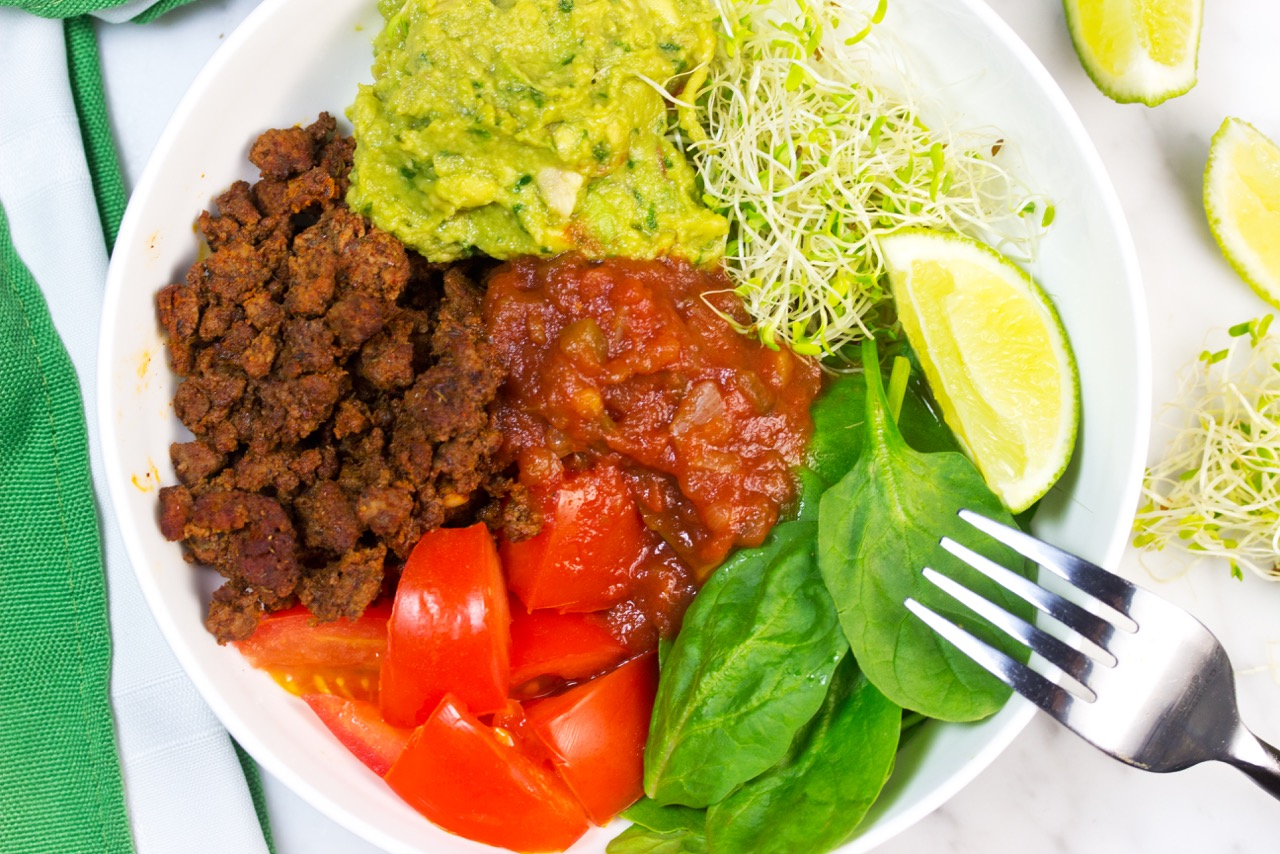 Healthy Low Carb Taco Bowls |Homemade Ingredients | Ground Beef Taco Bowl | Easy guacamole recipe | Gluten Free Recipe | Paleo Recipe | Whole 30 | Keto