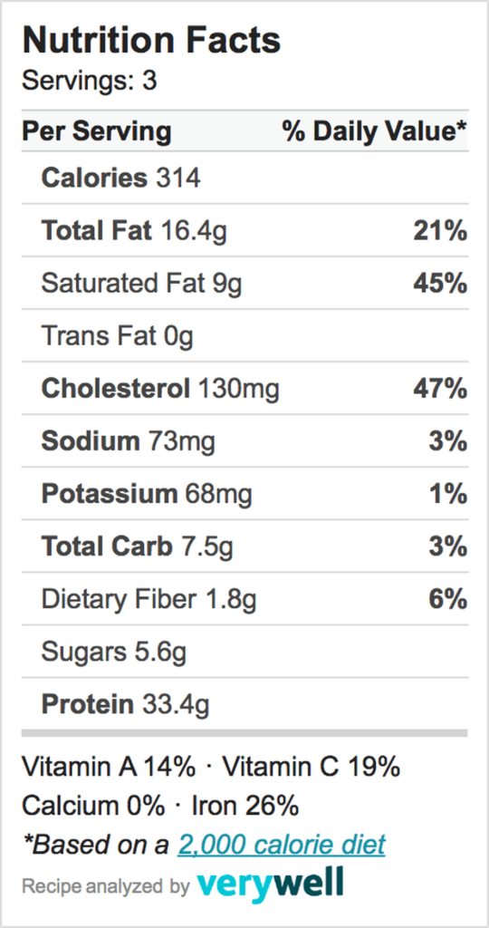 Nutrition-Label-pan seared pork chops