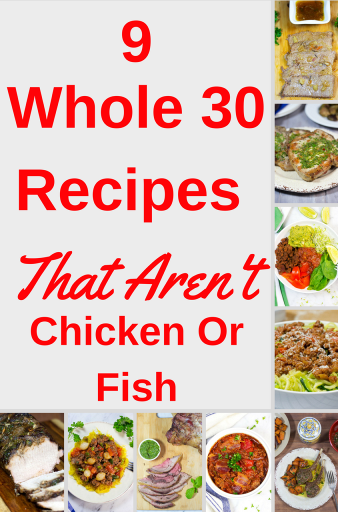 Click on the pin for a variety of delicious Whole 30 recipes | Never boring | Crock pot recipes | Easy Dinner recipes | Slow cooker pot roast and chili, The Best Grilled Pork Chops | Taco Bowl | Lamb, Zoodles, and more | gluten free | low carb | Dairy Free