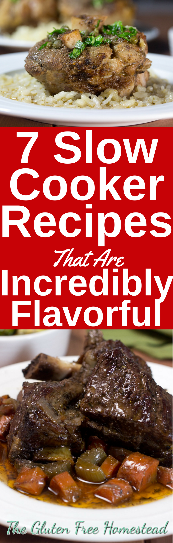 Learn the secret to tender, juicy meat that's incredibly tasty! | healthy recipes | Many low-carb meals or low-carb options | beef | pork | lamb stew | short ribs | easy slow cooker dinners | crockpot | gluten-free recipes | paleo recipes
